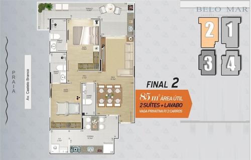lançamento apartamento residencial à venda, canto do forte, praia grande. - codigo: ap0711 - ap0711