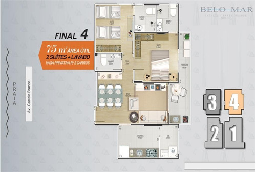 lançamento apartamento residencial à venda, canto do forte, praia grande. - codigo: ap0716 - ap0716