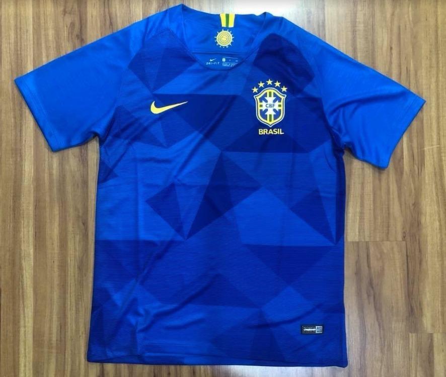 lançamento camisa brasil 2018 copa do mundo importada azul. Carregando zoom. 0ea5488a99195