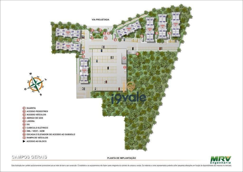 lançamento de apartamentos, spazio campos gerais jardim das indústrias, são josé dos campos-sp. - ap0585