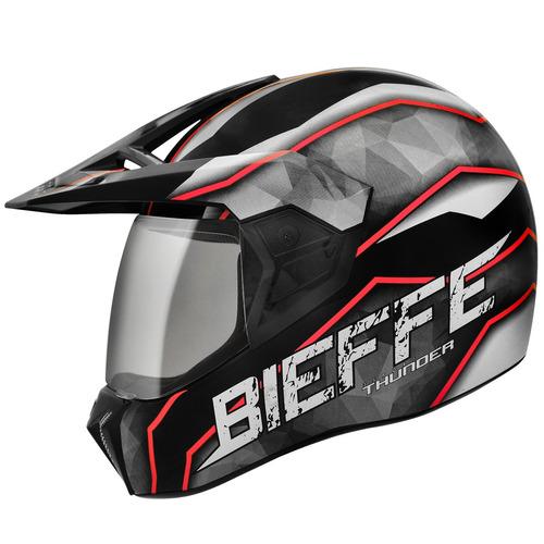 lançamento feminino capacete bieffe 3 sport thunder rosa