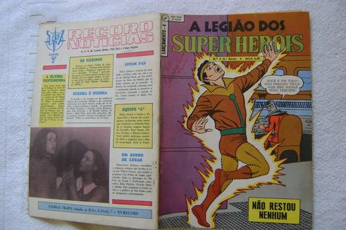 lançamento nº4 a legião dos super-heróis fev 69 ebal raro!