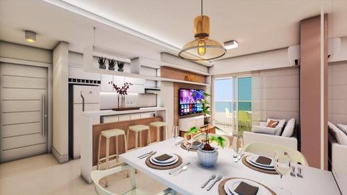 lançamento na ocian com 2 dormitórios sendo 1 suite, lazer completo, perto da praia, facilitado, aceita imóvel e carro - ap0458