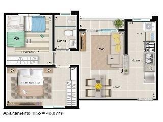 lançamento na zona sul pelo plano minha casa minha vida com varanda. - ap00012 - 4433822