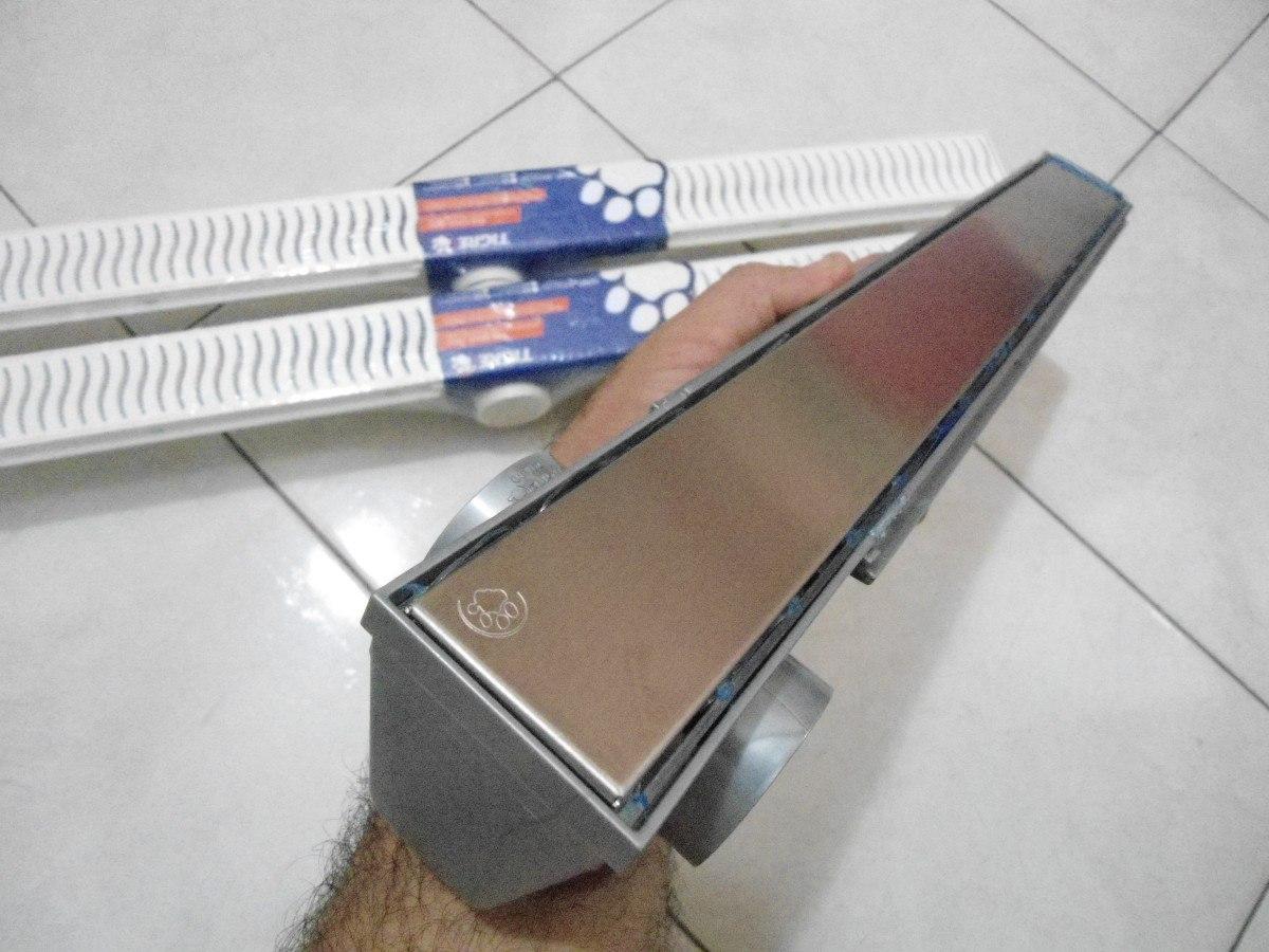Lançamento Ralo Linear 50cm Grelha Inox R$ 170 00 em Mercado  #344264 1200 900