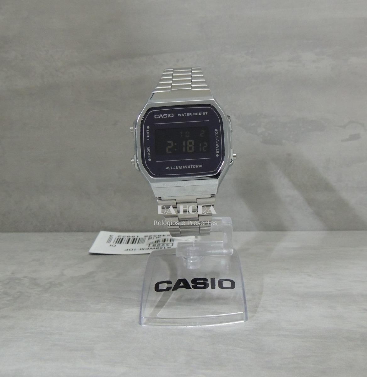 c680a791d35 Lançamento Relógio Casio Vintage A168wem-1df (nf E Gar) - R  268