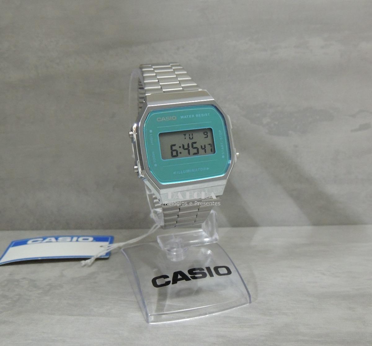 5cd60efa1cc Lançamento Relógio Casio Vintage A168wem-2df (nf E Gar) - R  268