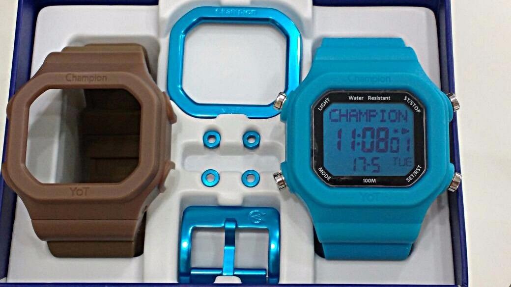 696273b3405 lançamento relógio champion yot troca pulseiras frete grátis. Carregando  zoom.
