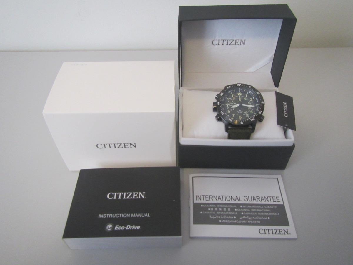 f017f6af152 Lançamento Relógio Citizen Altichron Bn4045-12x Altímetro Bu - R ...