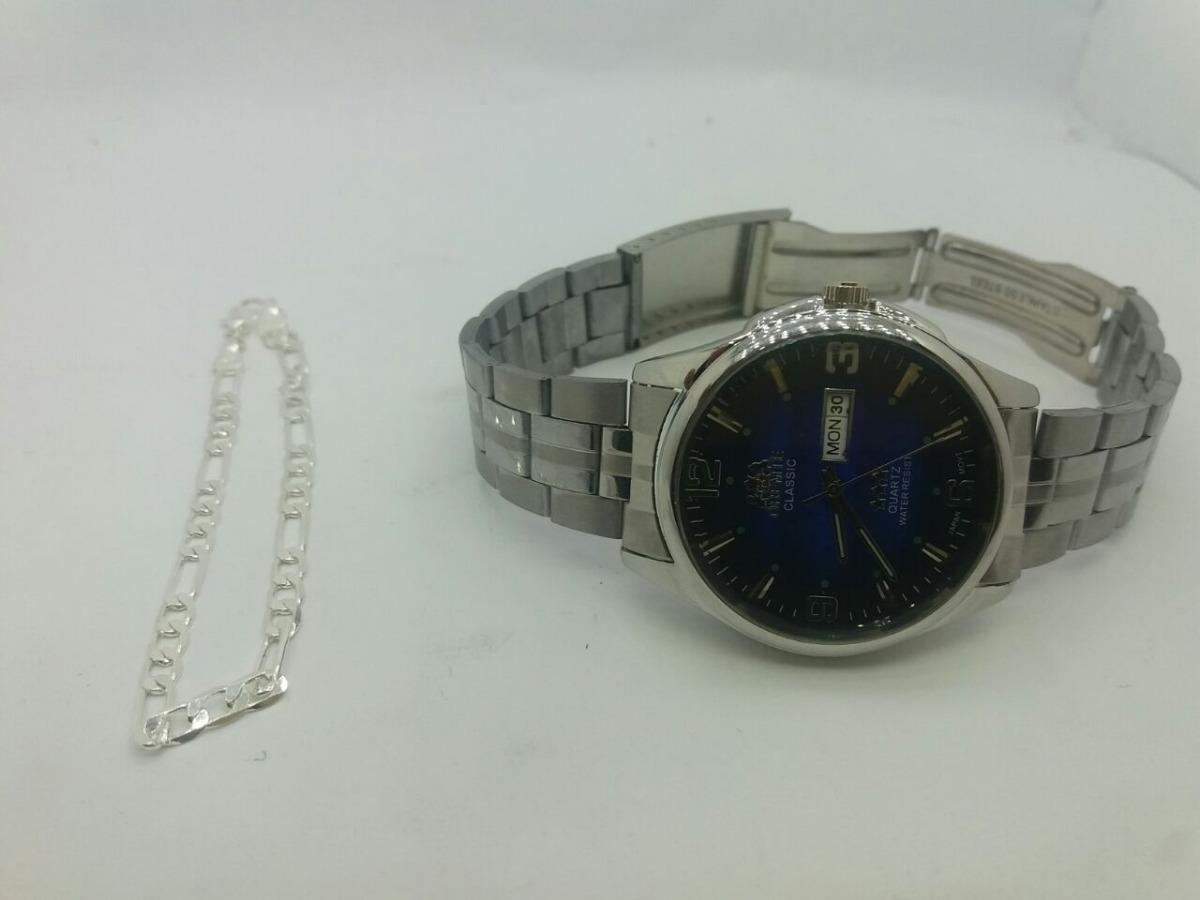 82840970841 lançamento  relógio classico masculino +brind pulseira prata. Carregando  zoom.