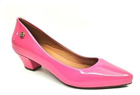 2c946163d910 Sapato Fechado Feminino Salto Baixo Rosa Pink - Sapatos com o ...