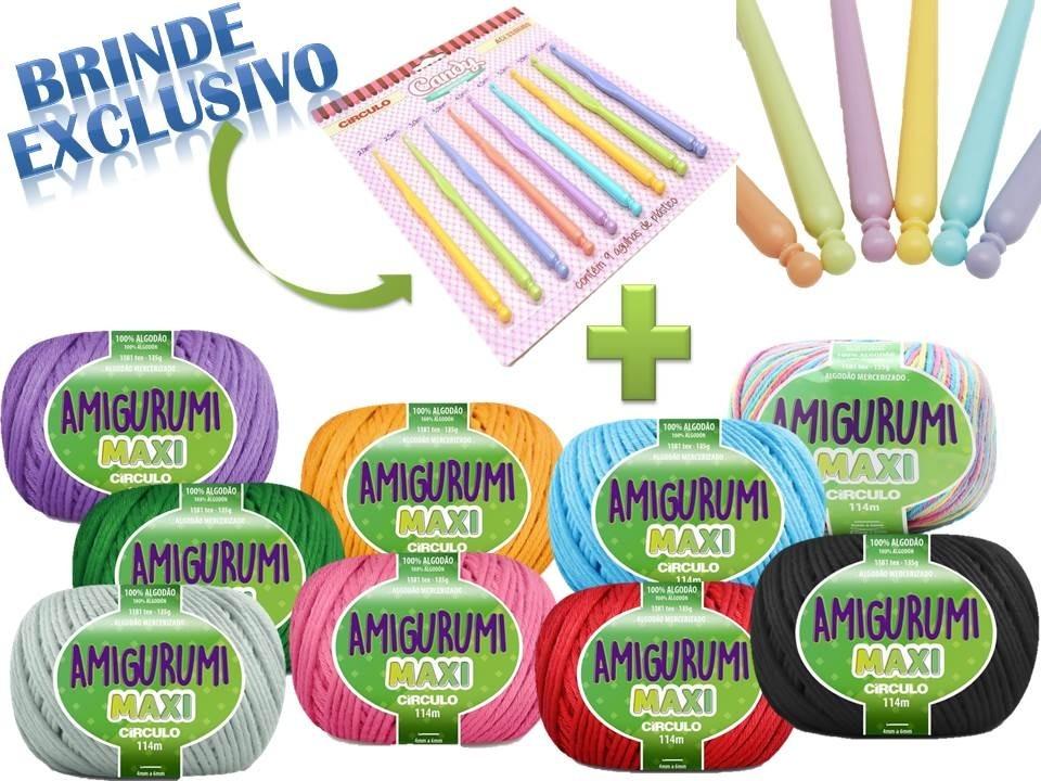 Kit Amigurumi Maxi (cores Alegres) Vitrine do Artesanato - Mobile | 720x960