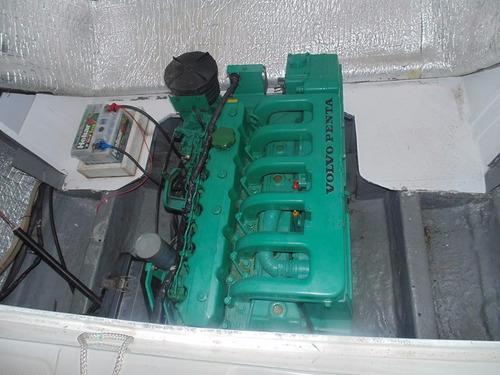 lancha 22 pés carbras mar - motor volvo 165hps diesel, 2000h