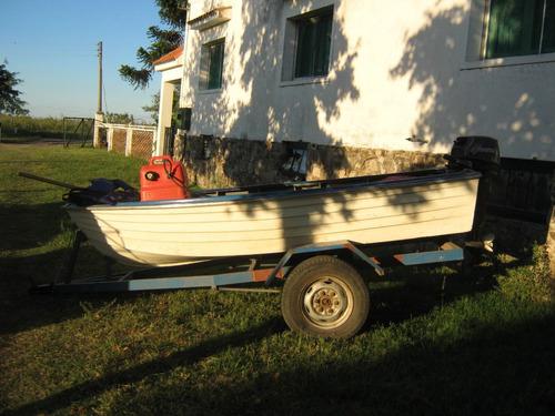 lancha 3.30 - trailer y motor 18 hp