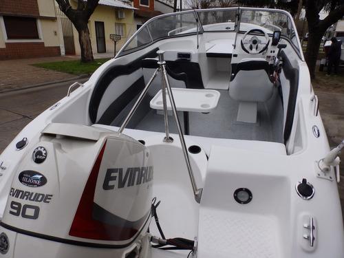 lancha 3v nueva open 510 evinrude 60 stock nautica milione 4