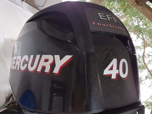 lancha 4.80 mt c/ mercury 40 hp 4 t con trailer