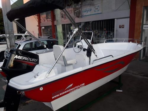 lancha 490 2020 equipada // motor mercury 40hp 2t 3cil 0km