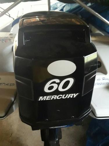 lancha alternativa 450 - mercury 60hp 2t 2012 - água doce