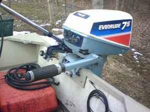 lancha aluminio motor evinrude 7.5 / troleador minn-kota