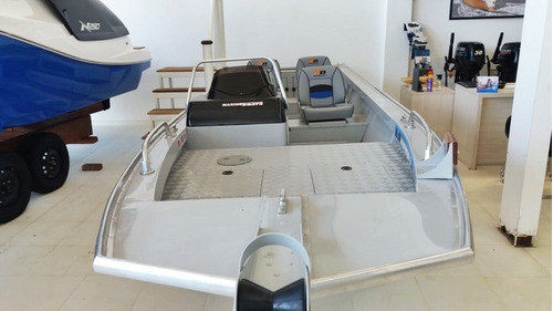 lancha alumínio nublar 600 pesca com motor 40hp novo
