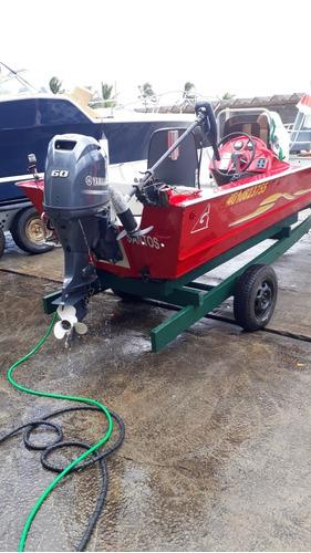 lancha alumínio para pescaria de robalo no canal ou costeira