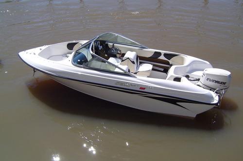 lancha amarinta 505 con evinrude 60 hp 2t 2017 nueva 0 hs