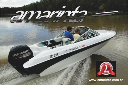 lancha amarinta 505 con evinrude 90 hp 2t 2017 nueva 0 hs