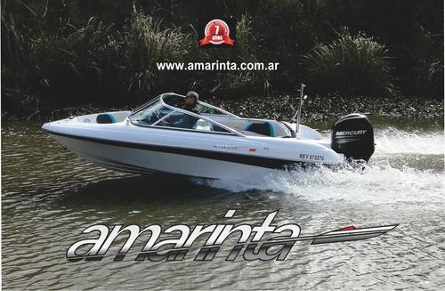 lancha amarinta 535 con evinrude 115 2t 2019 nueva 0 hs