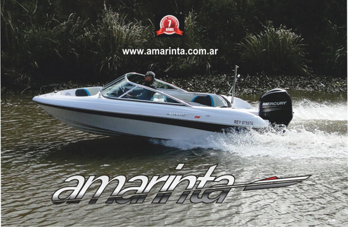 lancha amarinta 535 con evinrude 150 etec 2018 nueva 0 hs