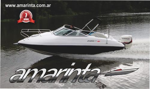 lancha amarinta 620 cuddy con mercury 150 hp 2017 nueva 0 hs