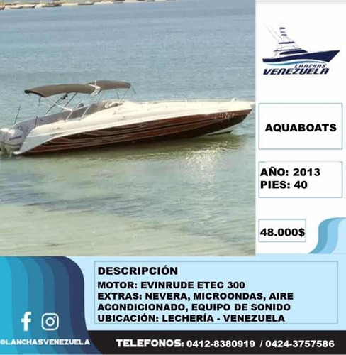 lancha aquaboats lv54