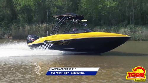 lancha arco iris eclipse 21 sport + mercury 150 hp 4t