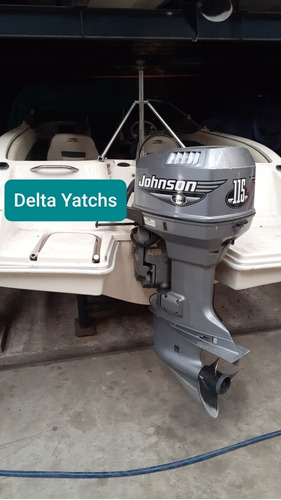 lancha arco iris fishing 551 open motor johnson 115 hp 2 t