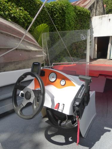 lancha atuel 460 con consola y motor 25hp 0km