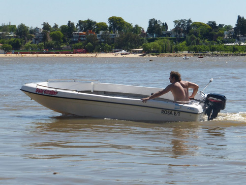 lancha atuel 460 con mercury 15 hp ( todo 0km)
