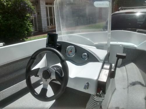 lancha atuel 460 una consola con mercury 25 hp ( todo 0 km)