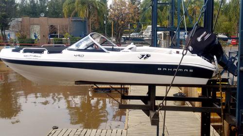 lancha bahamas 490 sport con mercury 90 hp 4 tiempos okm