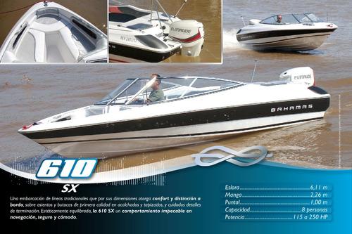 lancha bahamas 610 sx