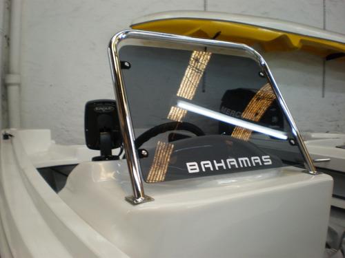 lancha bahamas pescadora 440 con mercury 40 elo super okm!!