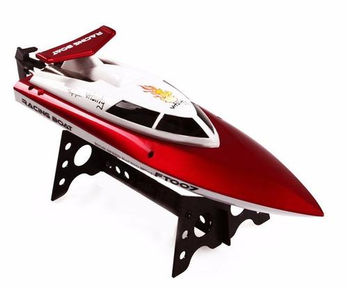 lancha barco control remoto ft007 super rapida  rc
