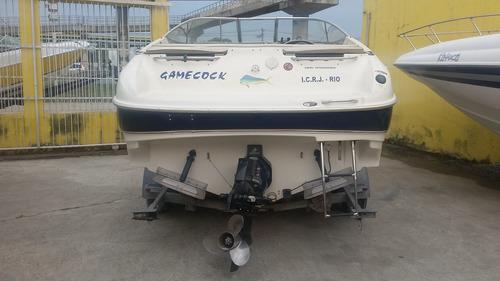lancha bayliner 26 pés motor mercruiser 260 hp bravo one