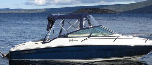 lancha bermuda 595 cuddy c/ mercury 150 hp solo 5 hs de uso