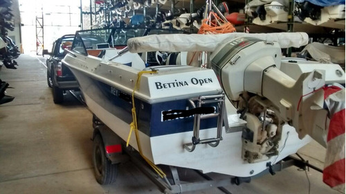 lancha bettina open con motor johnson 115  - oportunidad