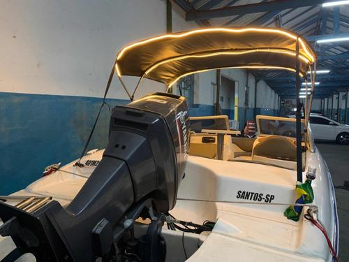 lancha boat 18 pés 2018 motor yamaha 90hp ñ  focker ventura