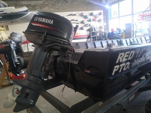 lancha bote aluminio  6 mts motor yamaha 30 trailer
