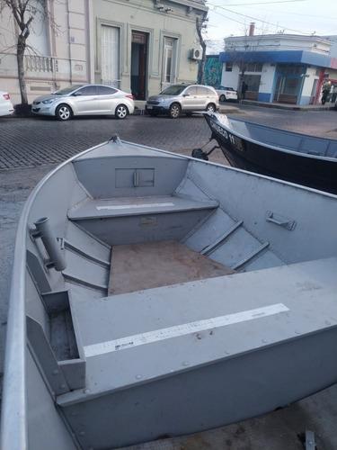 lancha bote aluminio metal glass 5  tohatsu  25 hp.  trailer