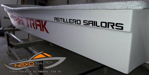 lancha bote mini track de astillero sailors