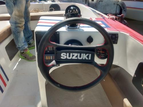 lancha bote motilon figlas con motor suzuki 85