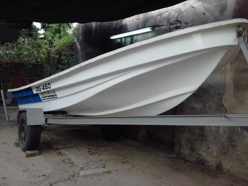 lancha bote traker 460 fuera de borda 15 hp y trailer 0km $$