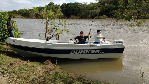 lancha bunker 550 fishing 550 no golpea directo astillero  !